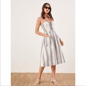 Reformation Ellen Linen Dress size 2